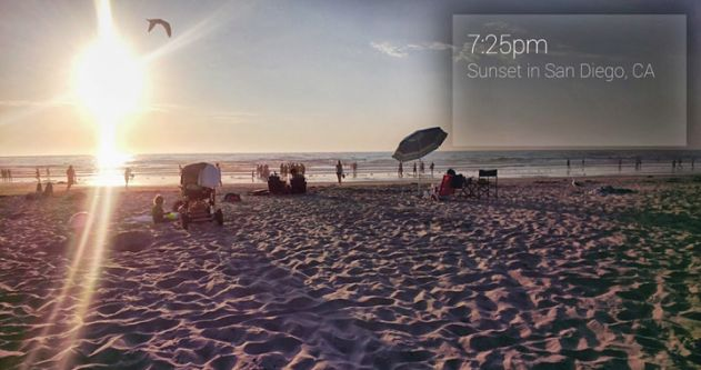 Google Glass Sunset Vignette