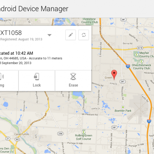 Remotely lock your missing Android smartphone or tablet