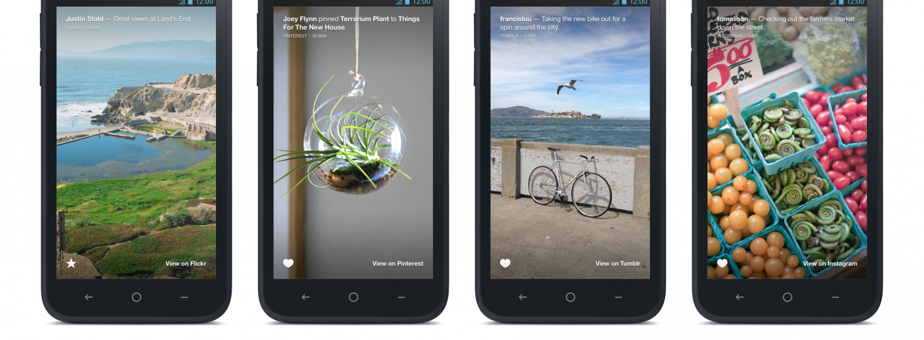 Facebook Home brings Instagram, Flickr, Tumblr, and Pinterest integration to all users