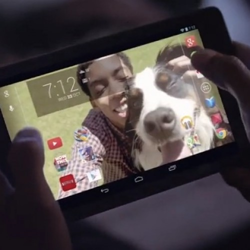 New Nexus 7 ads: sad puppies and all-nighters