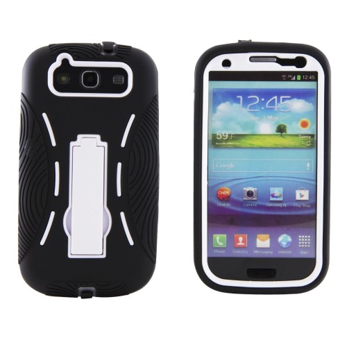 EAGLECELL Rugged Armor Hybrid Combo Case with Kickstand for Samsung Galaxy S3 for $4.30