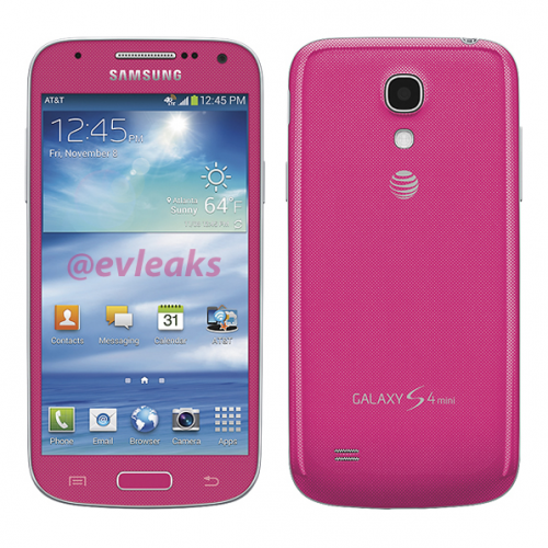 AT&T may soon introduce pink Galaxy S4 Mini