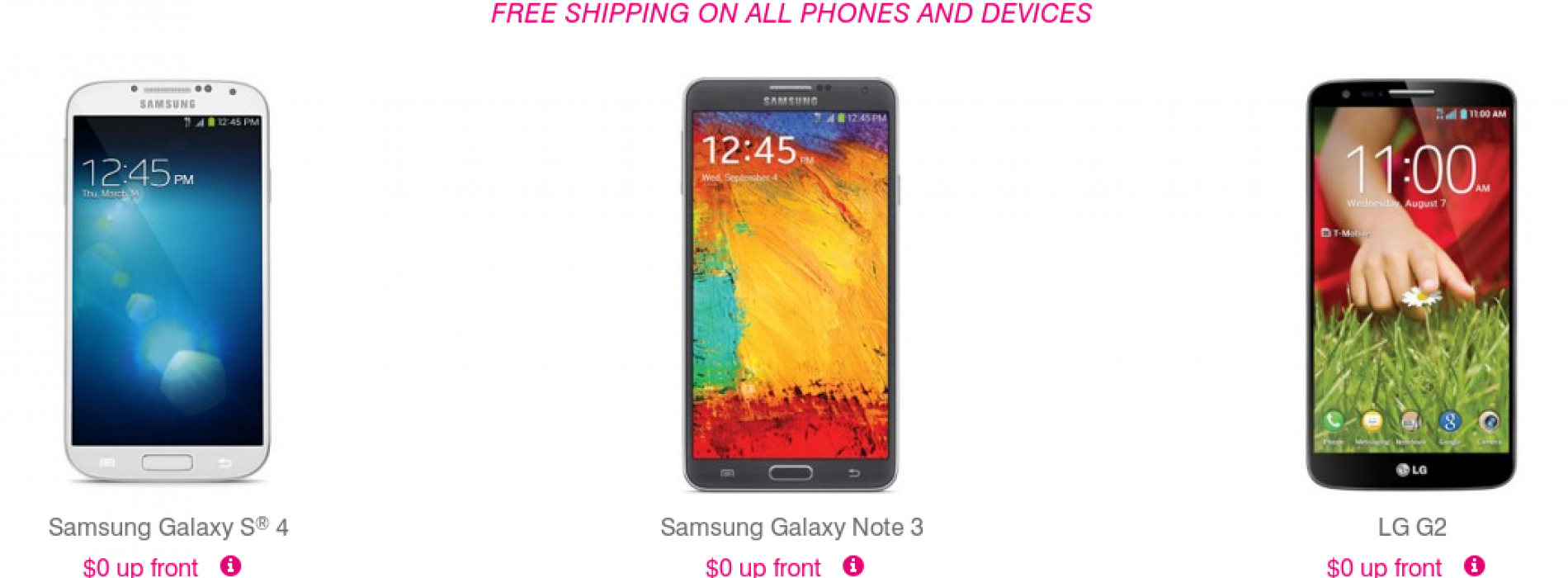 T-Mobile goes zero down for LG G2, Samsung Galaxy Note 3, and others