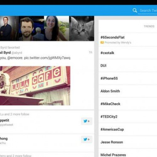 Tablet-optimized Twitter comes to Android…with a catch