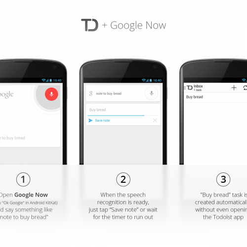 Todoist for Android updated with Google Now and DashClock support