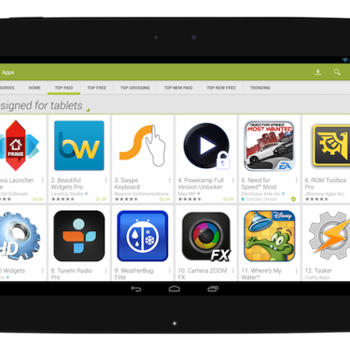 Android tablets now get an optimized Google Play experience