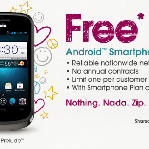 Aio Wireless offering free ZTE Prelude with any plan