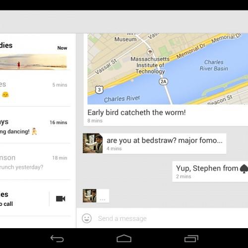 Google releases Hangouts 2.0, KitKat Keyboard apps
