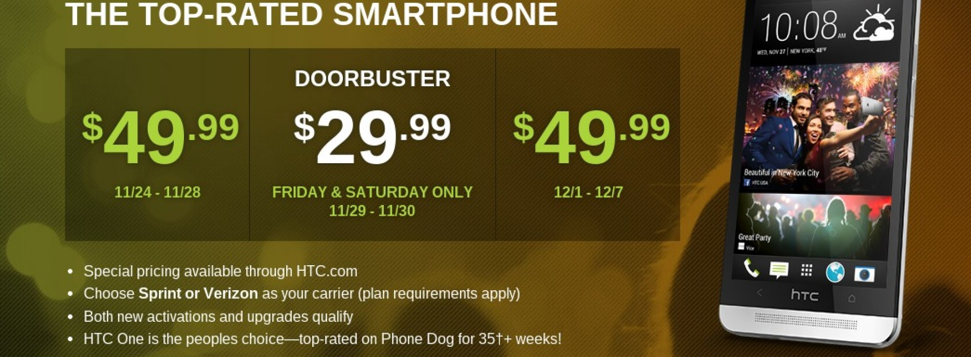 HTC discounting HTC One for Black Friday and beyond
