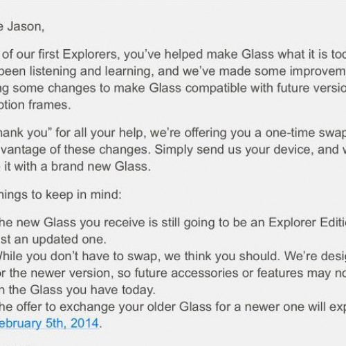 Google gives original Glass Explorers chance to swap hardware