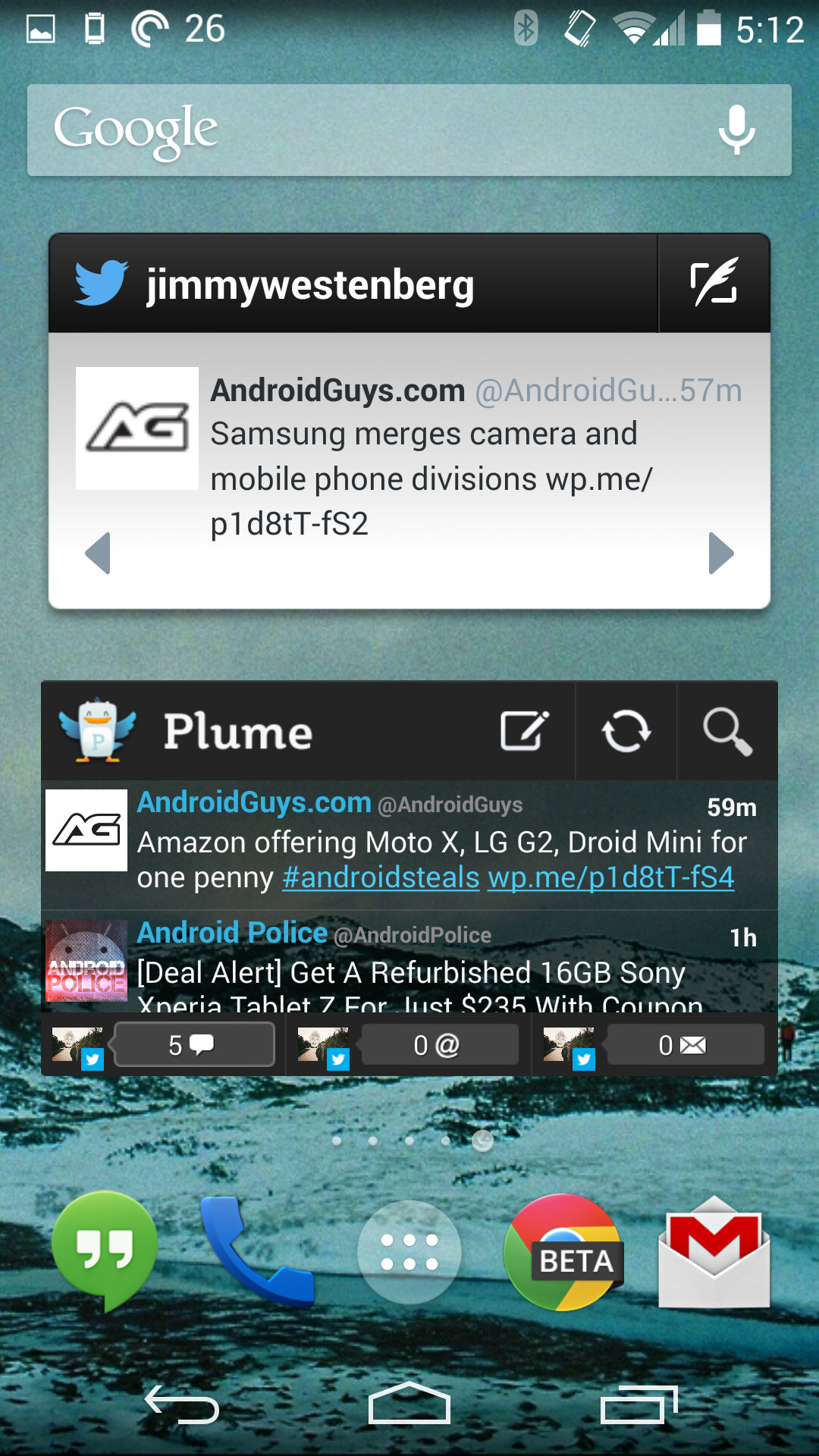 Twitter and Plume Widgets