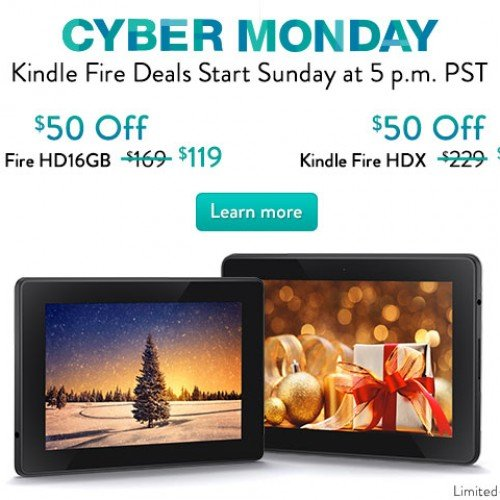Amazon knocks $50 OFF Kindle Fire HD and Kindle Fire HDX (Cyber Monday)