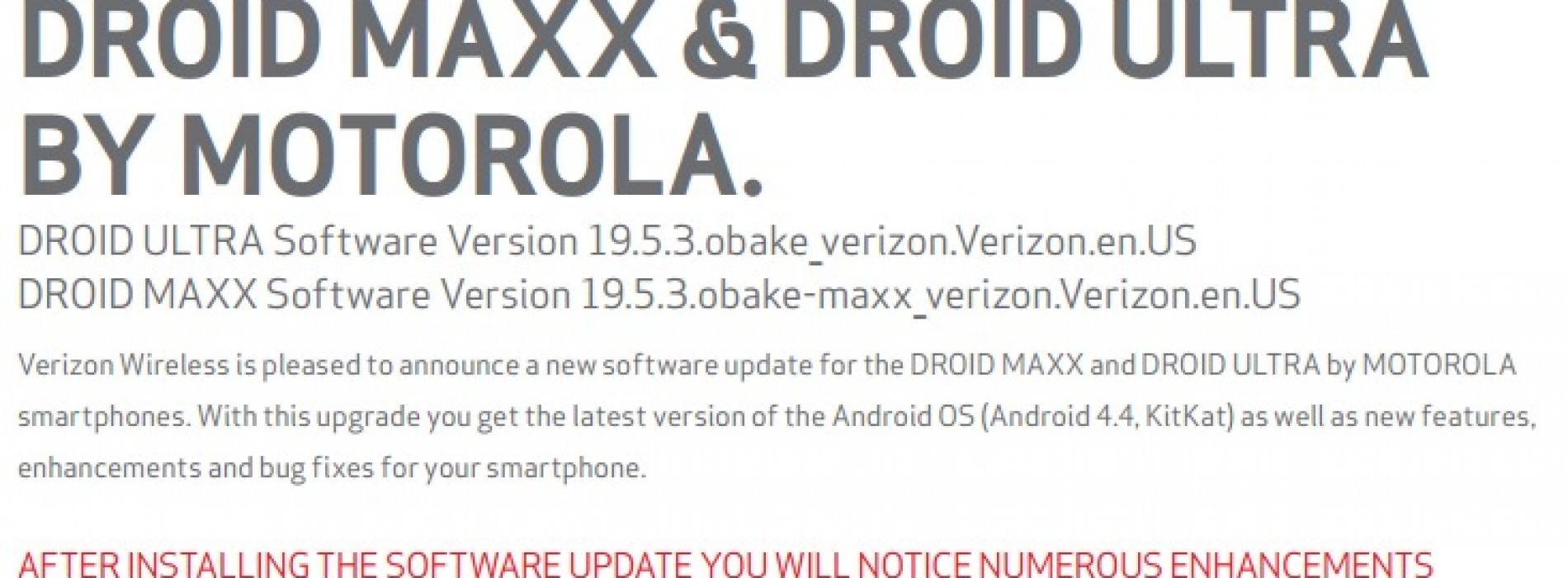 Droid Ultra, Droid Maxx, Droid Mini receiving Android KitKat 4.4 today