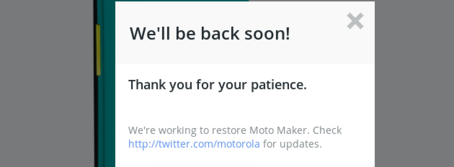 High demand for discounted Moto X brings site down