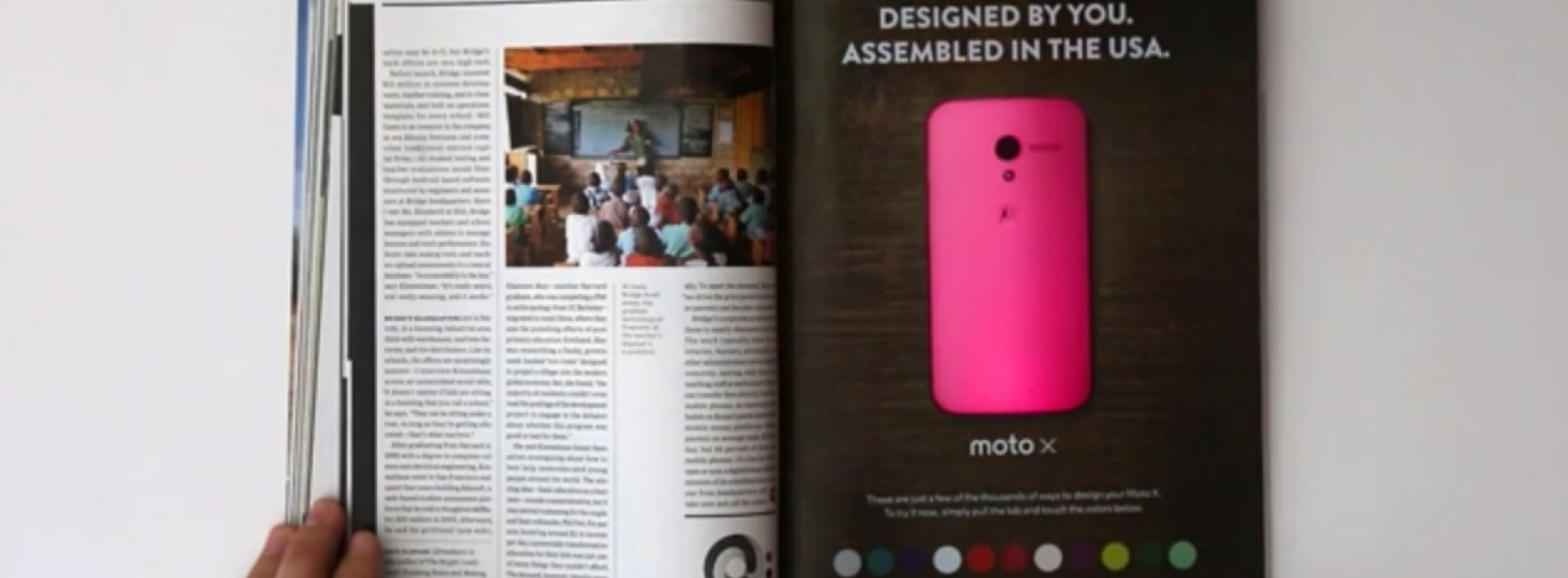 Motorola's Moto X ad in WIRED is 'first interactive print experience'