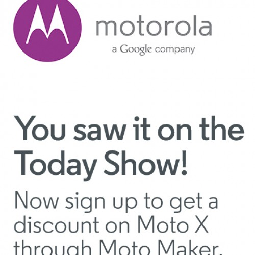 Motorola offering 50% off contract price or $150 off no contract price for Moto X