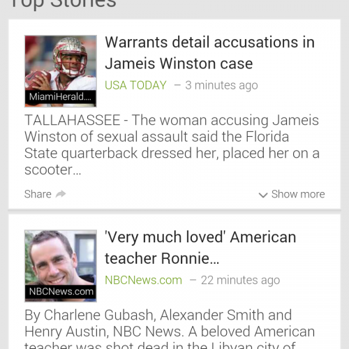 Google News mobile website updated for Android smartphones
