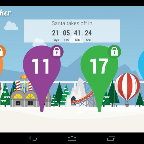 Google Santa Tracker app updated for 2013