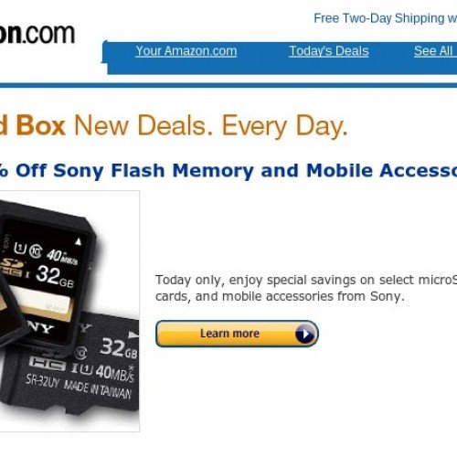 Amazon Gold Box Deals: Up to 65% off Sony flash memory, accessories