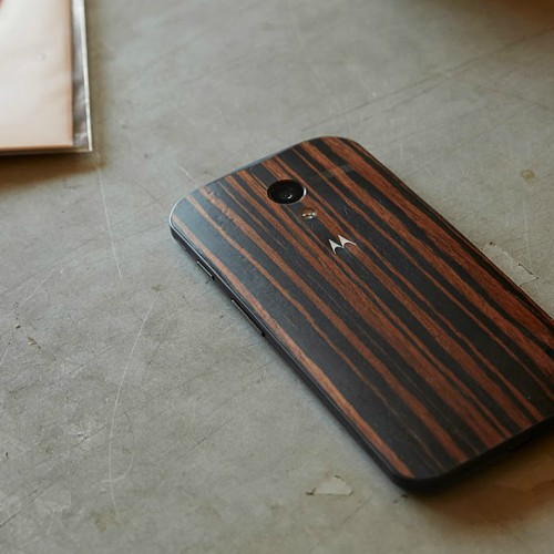 Moto Maker adds Walnut, Teak and Ebony finishes; premium price changed to $25