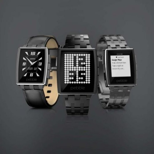 Pebble Steel reduced to $229 with leather strap