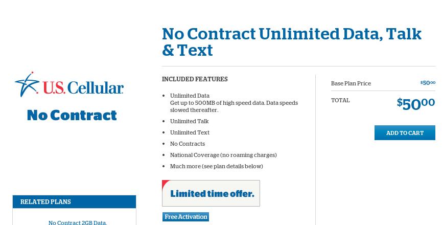 Plan Details   U.S. Cellular