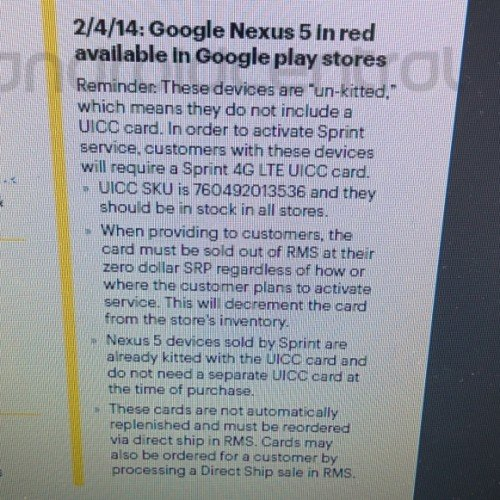 Red Nexus 5 reportedly due February 4