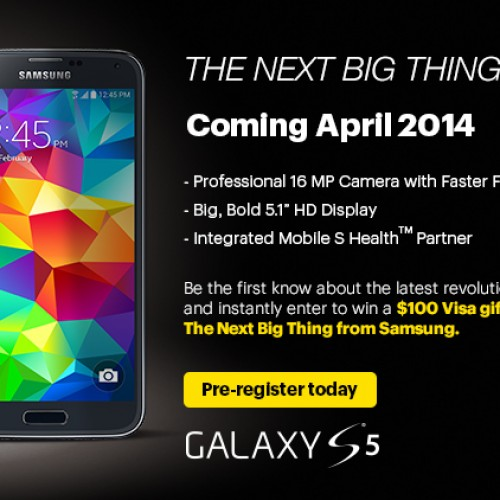 Sprint begins pre-registration for Samsung Galaxy S5