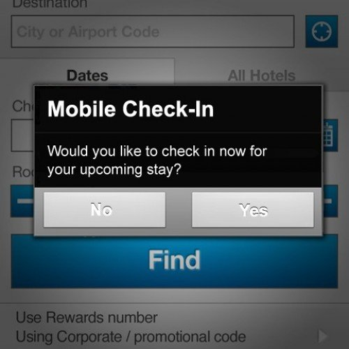 Marriott app allows for check-in, check-out (IN BRIEF)