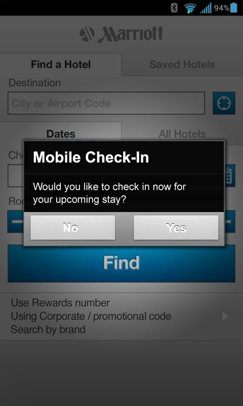 marriott app check out