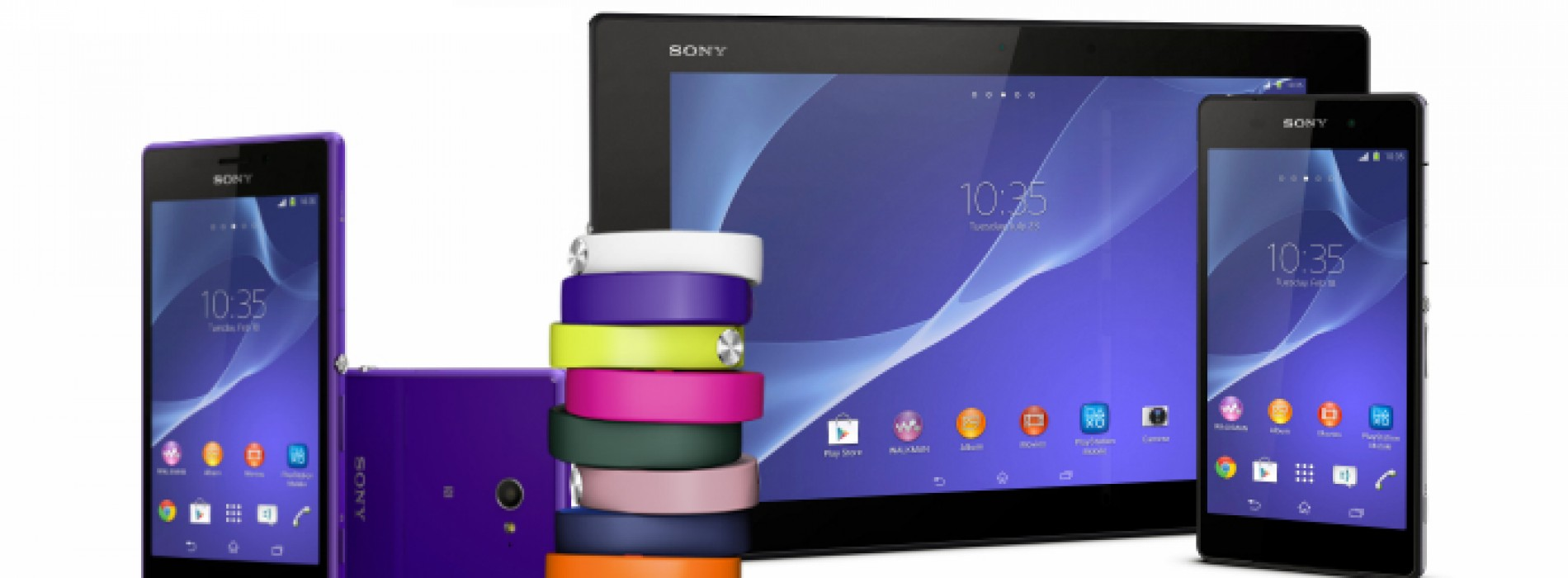 Sony unwraps smartphones, tablet, and wearable device for MWC