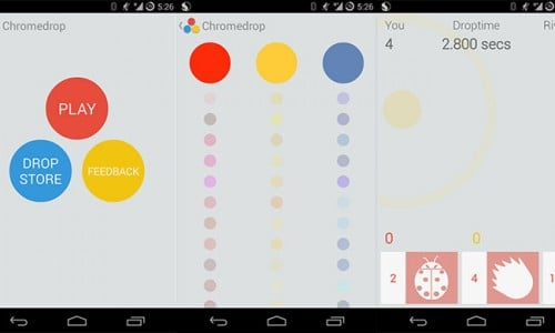Chromedrop brings challenging, yet beautiful casual gaming experience