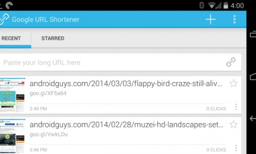 Popular Google URL Shortener released on Android [App of the day]