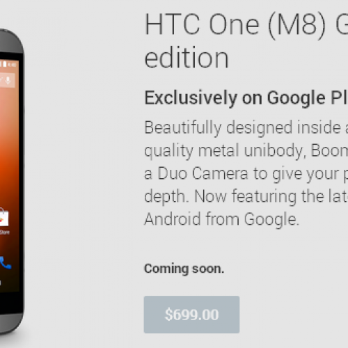 HTC One (M8) Google Play Edition officially announced