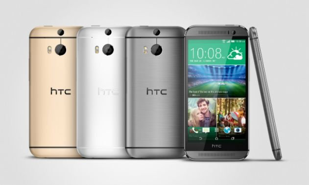 HTC One M8 gray Gold Silver