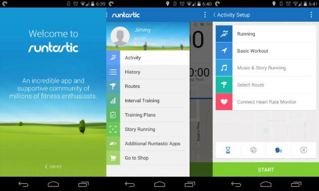 Runtastic app