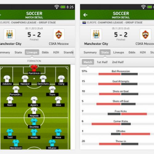 FlashScore Livescore international sports score tracking hits Android