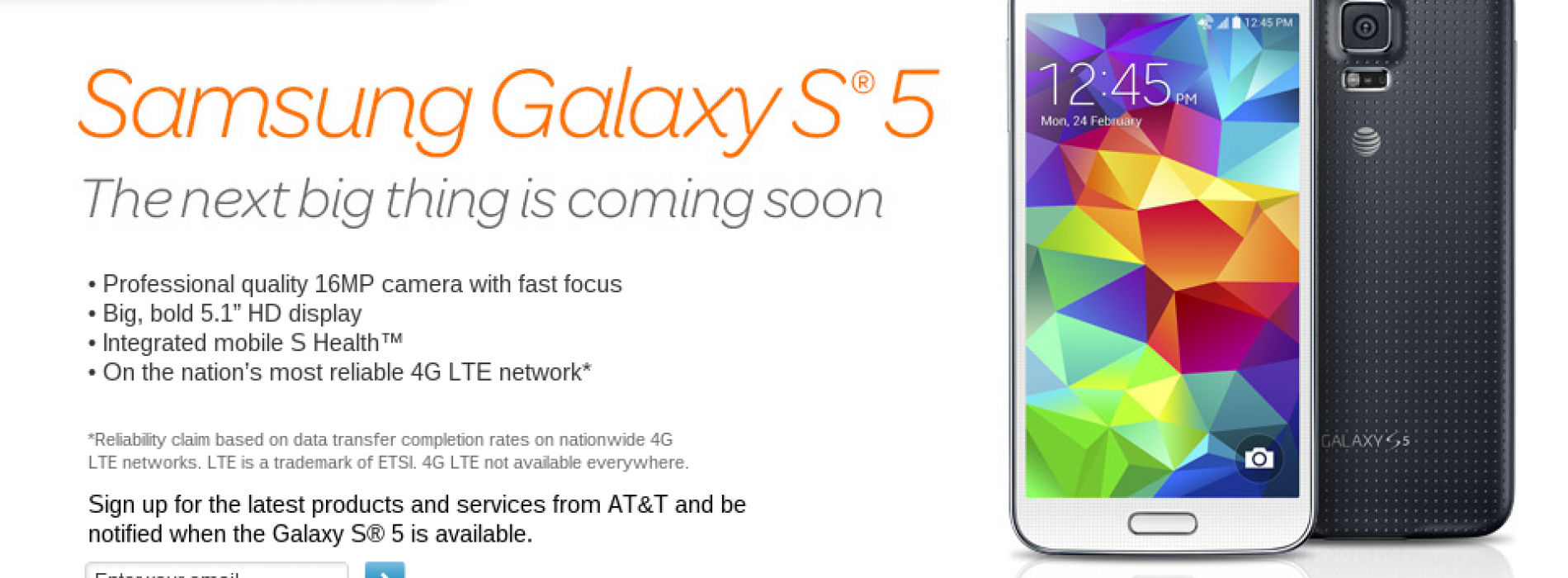 AT&T outlines Samsung Galaxy S5 pre-order details