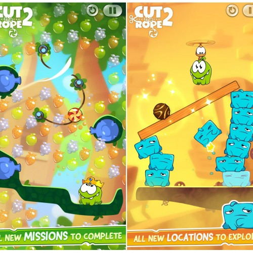 Om Nom returns to Android in Cut the Rope 2