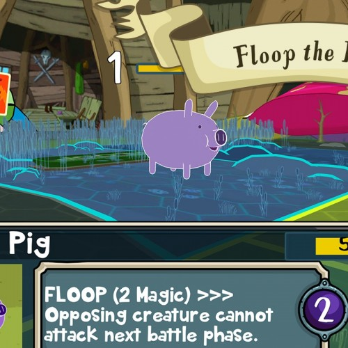 Floop the pig in Card Wars: Adventure Time [App of the Day]