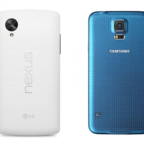 Samsung Galaxy S5 versus LG Nexus 5