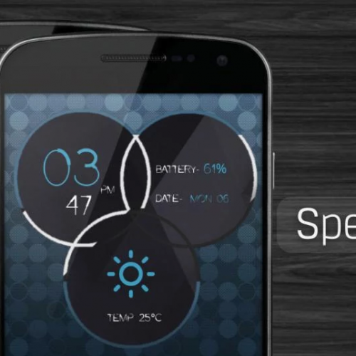 Get This Look: 'Spectrum Clocks' Zooper Widget