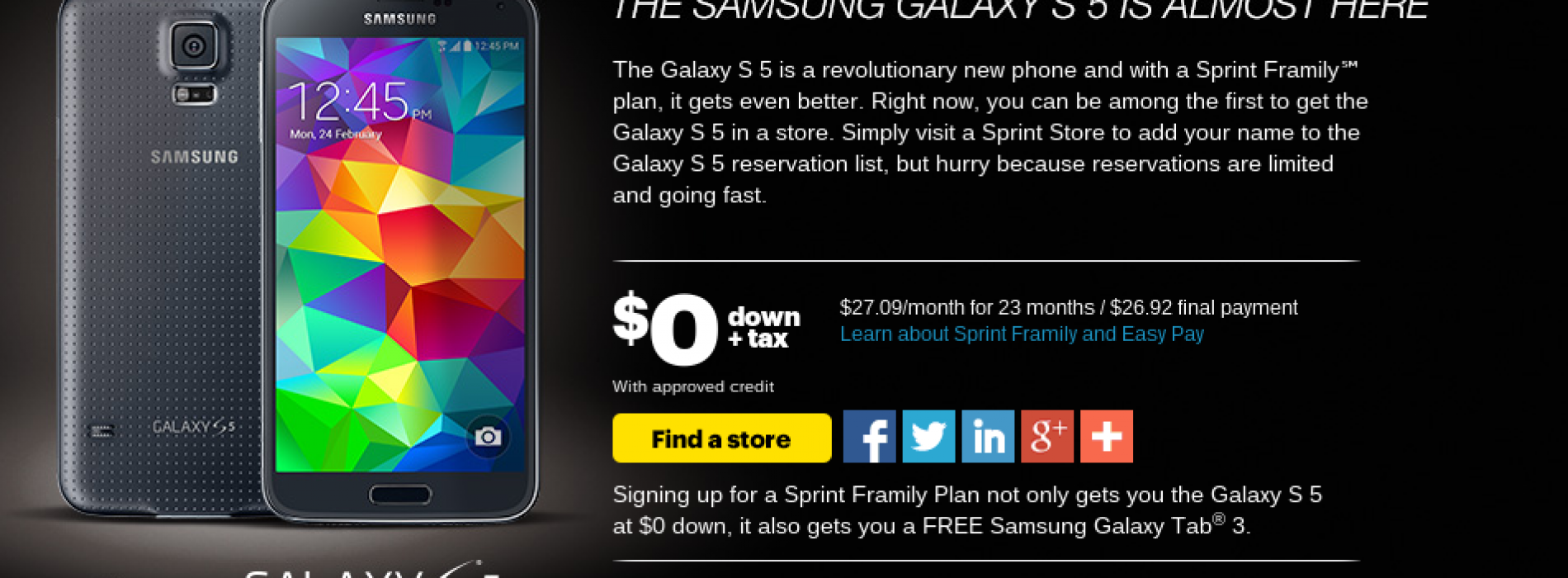 Sprint circles April 11 for Samsung Galaxy S5