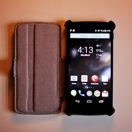 EasyAcc leather flip case for Nexus 5 review