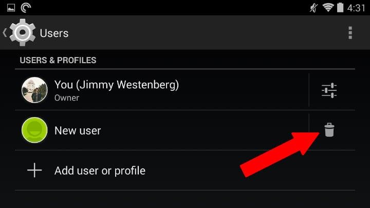 Delete user profile 1