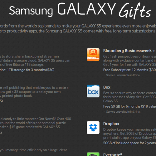 Just got your Galaxy S5? Don't forget about your FREE GIFTS!