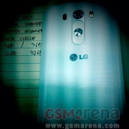 Alleged first look at LG G3 backside