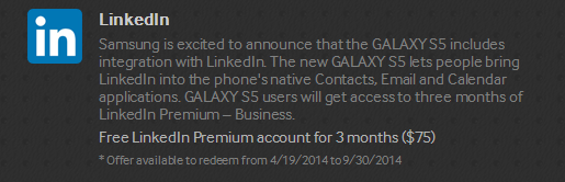 LinkedIn Galaxy Gifts