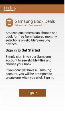 Samsung for Kindle