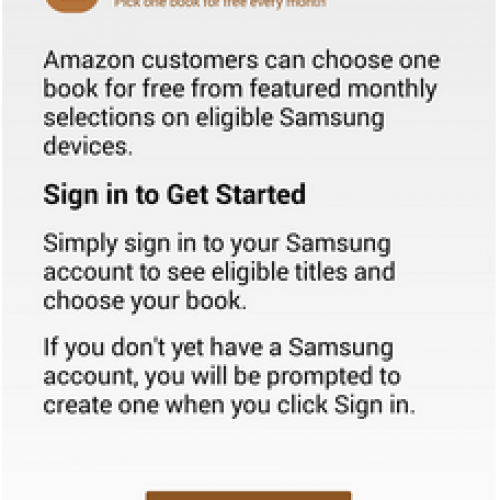 "Samsung and Amazon announce free eBooks via ""Kindle for Samsung"" service"